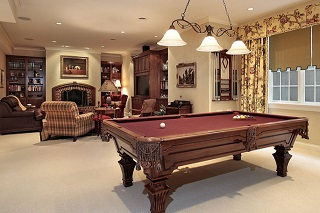 Determine pool table room dimensions