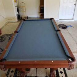 8' Slate Brunswick pool table