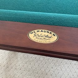 Olhausen Pool Table,  Cue Sticks/ Stand and Air Hockey insert